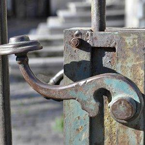 Door handle in the old part of Bucharest