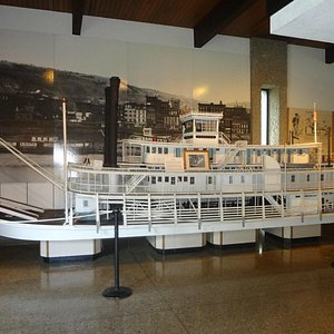 Model Steamboat in the lobby of the museum