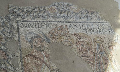 Mosaics at Villa Romana del Tellaro