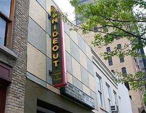 The Front of the Hideout Theatre on Congress Ave
