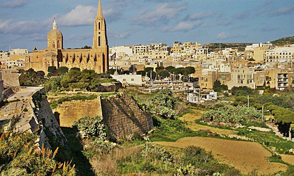 Beautiful panorama of Ghajnsielem Gozo