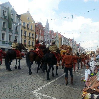 LAHO - historischer Umzug in Landshut  - eine herrliche Altstadt