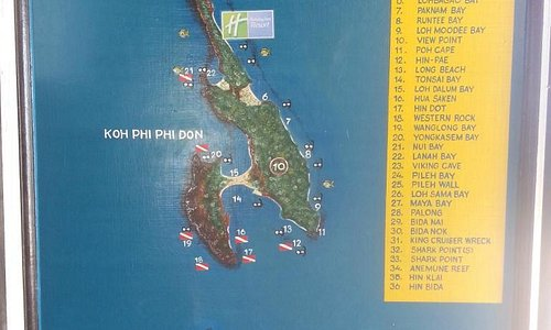 The complete map of Phi Phi... look for the no 2 island!