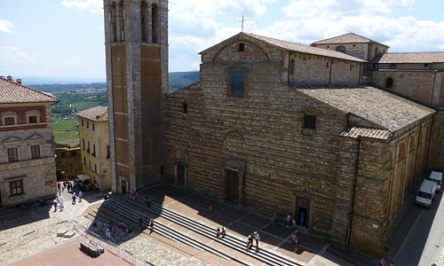 Montepulciano cathedral from terrace