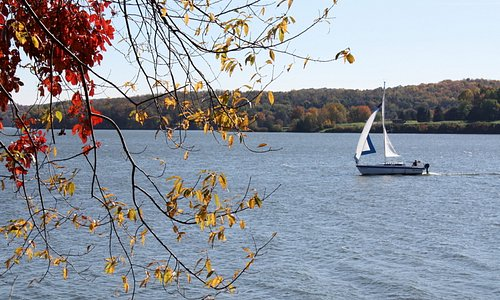 The beautiful Moraine State Park is a great getaway!