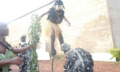 Stunning Akoh Njang Masquerade in Mankon