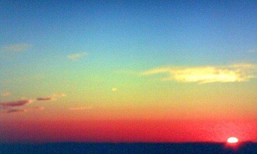 Lindo pôr do Sol quando chegamos na Praia da Enseadinha