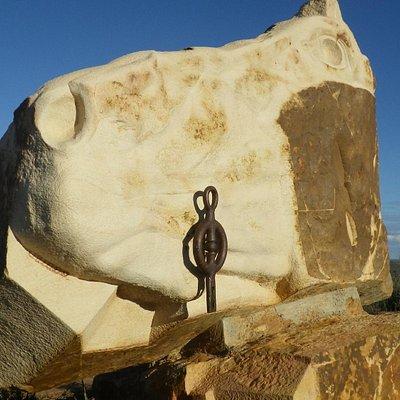 Modern rock art at the edge of the desert