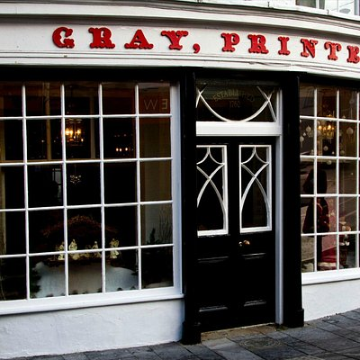 "Picture of the restored ""shopfront"" of Gray's printers museum"