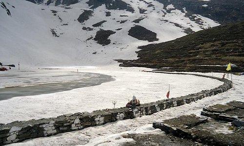 Frozen Manimahesh Lake