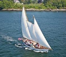 Madeleine sailing off Castle HIll