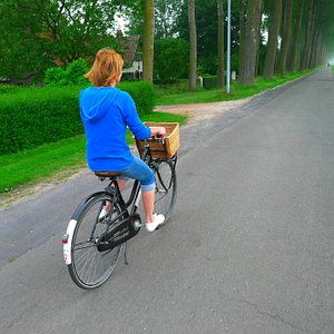 Dutch style cycle on flat paths