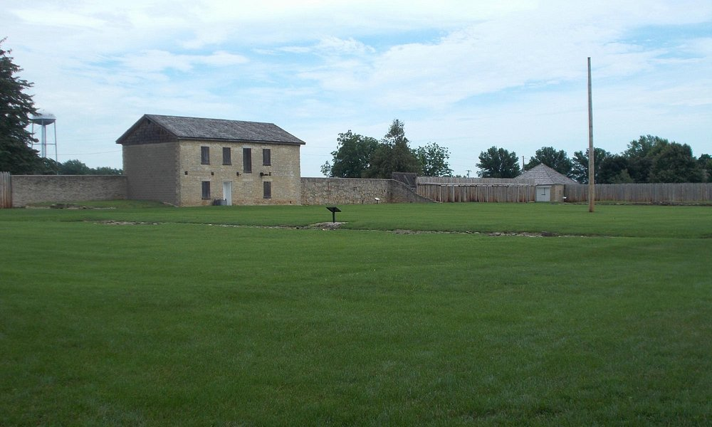 The spacious grounds of the fort