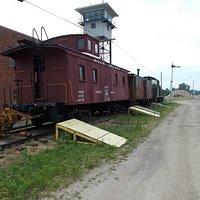 A vintage caboose