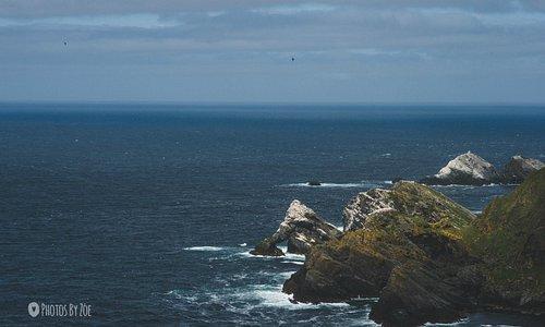 Views towards MUckle Flugga Lighthouse