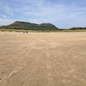 the Black Rock overlooking the beach