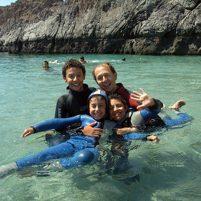 Snorkeling and diving are perfect family activities!