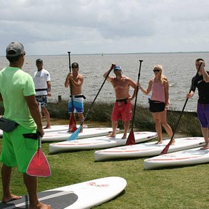 stand up paddle lesson from Outer Banks Paddleboard in Duck, NC