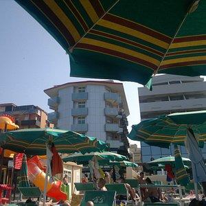 Vista dell'hotel Milano dal Paguro beach n.43