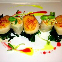 Market to Table Special - May 18, 2013 - Pan seared scallops with pickled mango and jicama summe