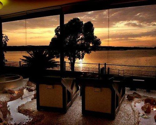 Area Relax al tramonto