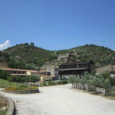 il piazzale della Minera di Rosas a Narcao