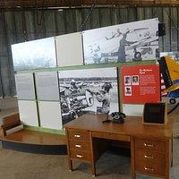 Inside Hangar 1 at Moton Field June 2013