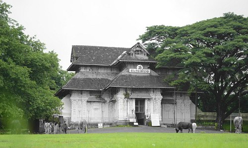 The front view of temple (given in artistic look by having only green colour selected)