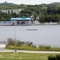 Rowers prepare for the Royal St. john's Regatta, held here annually in August since 1826.