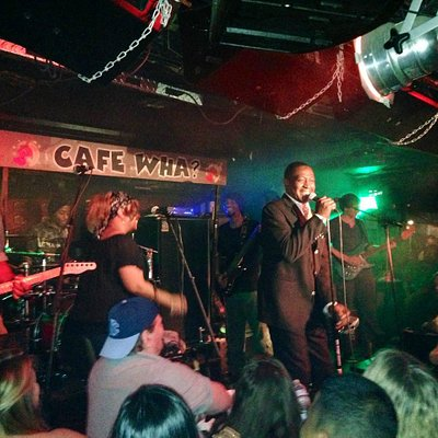 "the ""Soul Man"" performing at Cafe Wha"