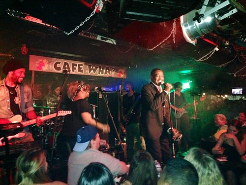"""the """"Soul Man"""" performing at Cafe Wha"""