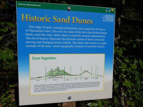 Sign describing the dunes