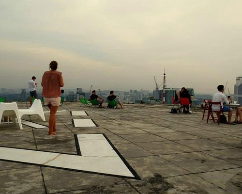 Helipad 2 floors above Heli Lounge (walking up by staircase only)