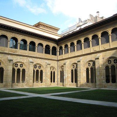 The cloister.