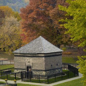 The Fort Pitt Block House in beautiful Point State Park in downtown Pittsburgh, PA