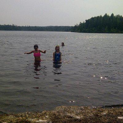 Swimming at Otter Pond