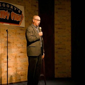 Sid Davis performs stand-up at Gregory's Comedy Club