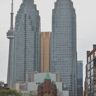 view on Iron building , TD Tower and CN Tower