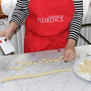 learning how to cut the gnocchi