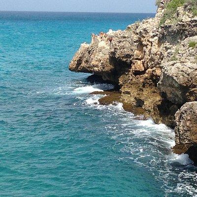 The cliffs..