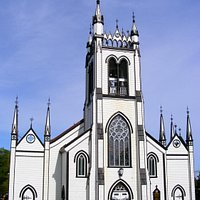 Beautiful black and white church