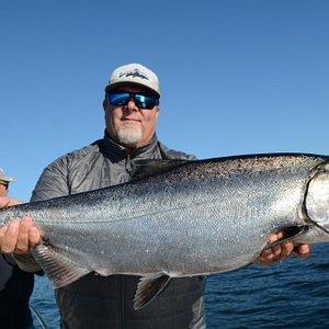 Verns Big Fish 7-26-13 Salmon Fishing in Puget Sound-Seattle
