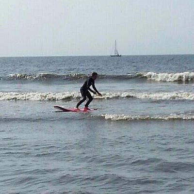 mooie golven voor een eerste keer