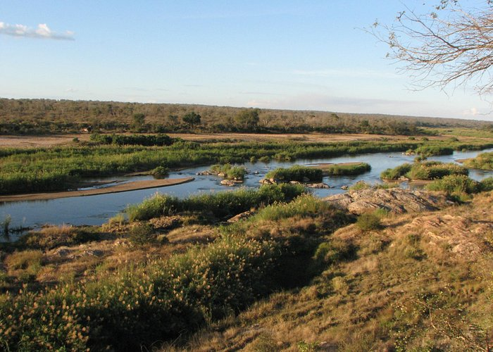 view of the Crocodile River from the lookout point in Marloth Park