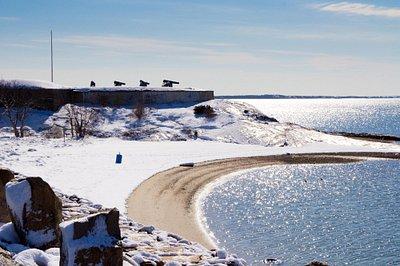 Fort Phoenix in winter
