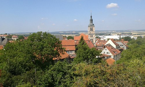 view of the old town from the mountainside