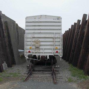 Port Chicago Naval Magazine National Memorial - Boxcar / Ammunition revetment