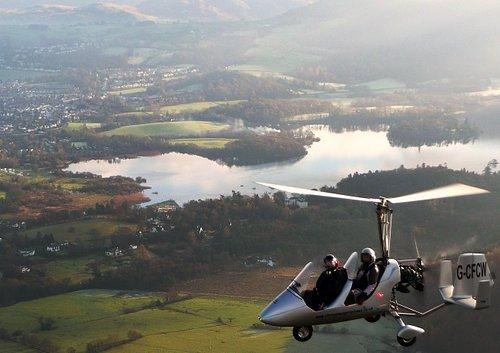 Gyroplane Trial flights around the lake District