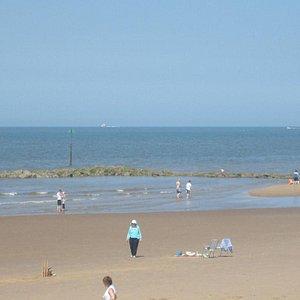 Flat beach for activities ..