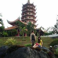 Tampak pagoda tujuh tingkat